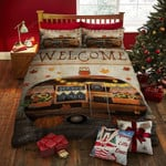 Halloween Camper Bed Sheets Duvet Cover Bedding Set Great Gifts For Birthday Christmas Thanksgiving