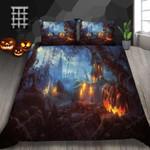 Pumpkin Lantern Halloween Bed Sheets Duvet Cover Bedding Set Great Gifts For Halloween