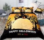 Happy Halloween  Cotton Bed Sheets Spread Comforter Duvet Cover Bedding Sets