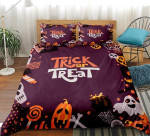 Happy Halloween Trick Or Treat Cotton Bed Sheets Spread Comforter Duvet Cover Bedding Sets