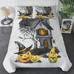 Halloween Pumpkin Bedding Set (Duvet Cover & Pillow Cases)