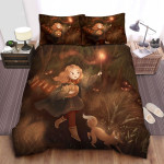 Hermione Lumos Spell Halloween Theme Painting Bed Sheets Spread Comforter Duvet Cover Bedding Sets