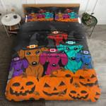 Dachshunds Halloween Bedding Set      (Duvet Cover & Pillow Cases)