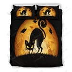 Black Cat Bed Sheets Duvet Cover Bedding Set Great Gifts For Halloween