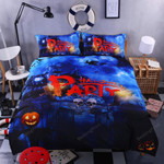 Halloween Pumpkin Party Bed Sheets Duvet Cover Bedding Set Great Gifts For Birthday Christmas Thanksgiving