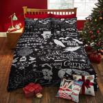 Halloween Raven, Dancing Skeleton Bed Sheets Spread Duvet Cover Bedding Sets