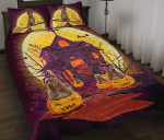Pitbull Dog Witch At Halloween Night Bed Sheets Spread Comforter Duvet Cover Bedding Sets