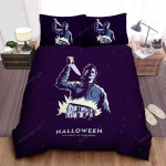 Halloween Michael Myers The Night He Came Home Bed Sheets Spread Comforter Duvet Cover Bedding Sets