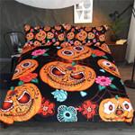 Sugar Skull Pumpkin King Bedding Set  For Halloween (Duvet Cover And Pillowcases)