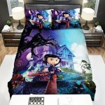 Coraline And The House Halloween Bed Sheets Spread Comforter Duvet Cover Bedding Sets