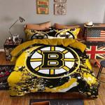 Boston Bruins Bedding Set Sleepy Halloween And Christmas  (Duvet Cover & Pillow Cases)