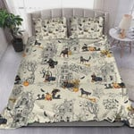 Rottweiler In Halloween Town Bed Sheets Spread Comforter Duvet Cover Bedding Sets