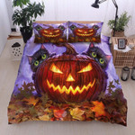 Cat Halloween Bed Sheets Duvet Cover Bedding Set Great Gifts For Birthday Christmas Thanksgiving