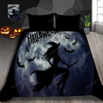 Halloween Flying Witch Bed Sheets Duvet Cover Bedding Set Great Gifts For Birthday Christmas Thanksgiving