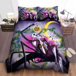 The Nightmare Before Christmas Jack & Sally Halloween Vibe Bed Sheets Spread Comforter Duvet Cover Bedding Sets