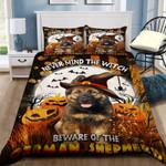 Beware Of The German Shepherd Halloween Bed Sheets Spread Duvet Cover Bedding Set