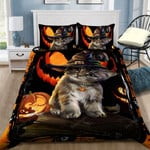Halloween Cat Bed Sheets Duvet Cover Bedding Set Great Gifts For Birthday Christmas Thanksgiving