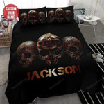 Halloween Skull Rock Art Personalized Custom Name Duvet Cover Bedding Set