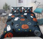 Halloween Pumpkin Ghost Festival Themed Bedding Set (Duvet Cover & Pillow Cases)