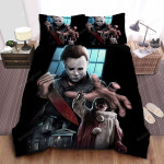 Halloween The Return Of Michael Myers Bed Sheets Spread Comforter Duvet Cover Bedding Sets