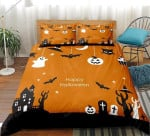 3d Happy Halloween Cotton Bed Sheets Spread Comforter Duvet Cover Bedding Sets