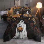 Halloween Ghost Cotton Bed Sheets Spread Comforter Duvet Cover Bedding Sets Perfect Gifts For Birthday Christmas Thanksgiving Halloween