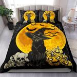 Black Cat Halloween Bedding Set   (Duvet Cover & Pillow Cases)