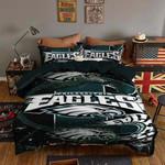 Philadelphia Eagles Bedding Set Sleepy Halloween And  Christmas (Duvet Cover & Pillow Cases)