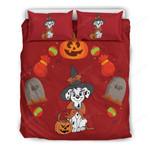 Dalmatian Halloween Bed Sheets Spread Comforter Duvet Cover Bedding Sets