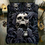 Smoking Skull Bedding Set - Gift For Halloween