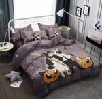 Halloween Cat Cotton Bed Sheets Spread Comforter Duvet Cover Bedding Sets
