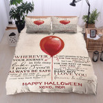 Personalized To My Son Halloween From Mom I Love You Forever & Always Cotton Bed Sheets Spread Comforter Duvet Cover Bedding Sets