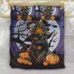 Black Cat Halloween Pumpkin Bedding Set (Duvet Cover & Pillow Cases)