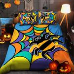 Colorful Spider Halloween Bed Sheets Duvet Cover Bedding Sets