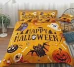 Happy Halloween Pumpkin Cotton Bed Sheets Spread Comforter Duvet Cover Bedding Sets