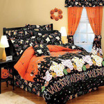 Halloween Haunted House Cotton Bed Sheets Spread Comforter Duvet Cover Bedding Sets