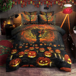 Pumpkin Halloween Cotton Bed Sheets Spread Comforter Duvet Cover Bedding Sets Perfect Gifts For Pumpkin Lover Gifts For Birthday Christmas Thanksgiving Halloween