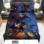 League Of Legends Halloween Lulu Splash Concept Art Bed Sheets Spread Duvet Cover Bedding Sets