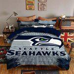 Seattle Seahawks Bedding Set Sleepy Halloween And  Christmas (Duvet Cover & Pillow Cases)