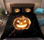 Halloween 3D Pumpkin Lantern Cotton Bed Sheets Spread Comforter Duvet Cover Bedding Sets