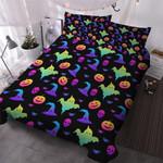 Neon Rainbow Halloween Cotton Bed Sheets Spread Comforter Duvet Cover Bedding Sets
