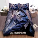 Michael Myers In Halloween Series Painting Bed Sheets Spread Comforter Duvet Cover Bedding Sets