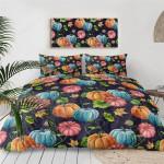 Halloween Pumpkin Cotton Bed Sheets Spread Comforter Duvet Cover Bedding Sets