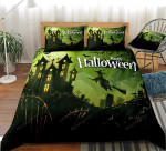 3d Halloween Witch Flying On Broom Cotton Bed Sheets Spread Comforter Duvet Cover Bedding Sets