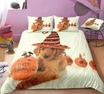 Dog And Pumpkin Halloween Cotton Bed Sheets Spread Comforter Duvet Cover Bedding Sets