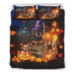 Dachshund And Pumpkin Halloween Bed Sheets Spread Comforter Duvet Cover Bedding Sets