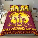Pumpkin Guitar Halloween Bedding Set  (Duvet Cover & Pillow Cases)
