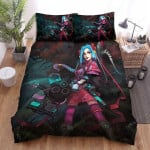 League Of Legends Witch Jinx Halloween Concept Art Bed Sheets Spread Duvet Cover Bedding Sets