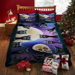 Black Cat Halloween Bed Sheets Spread Duvet Cover Bedding Sets