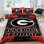 Georgia Bulldogs Bedding Set Sleepy Halloween And  Christmas Sale (Duvet Cover & Pillow Cases)